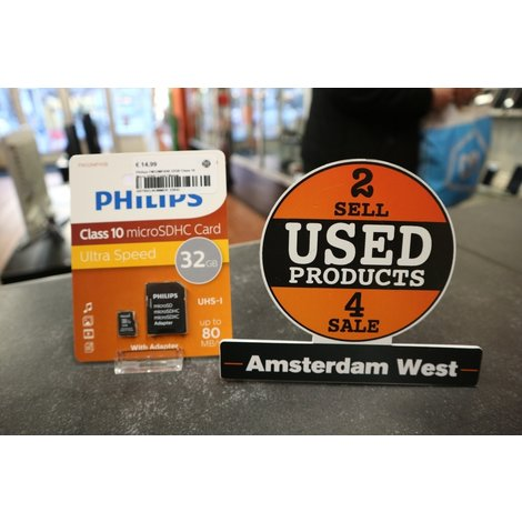 Philips FM32MP45B 32GB Class 10 Micro SDHC Card | Nieuw