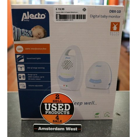 Alecto DBX-10 Digital Babyfoon | Nieuw