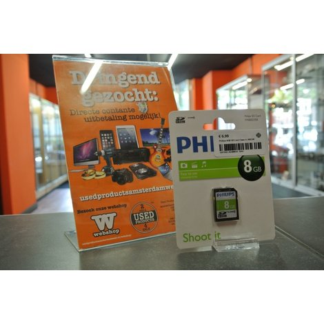 Philips 8GB SD Card Class 4   NIEUW