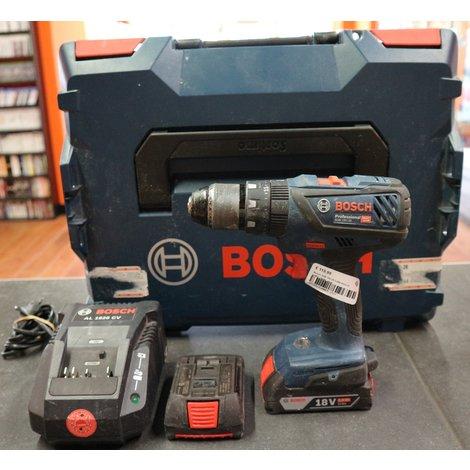 Bosch GSB 18V-28 2.0Ah Accu in koffer   Nette staat