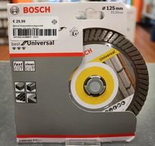 Bosch Diamantdoorslijpschijf Diameter 125 mm | Nieuw