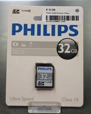 Philips Philips 32GB SD Kaart | Nieuw