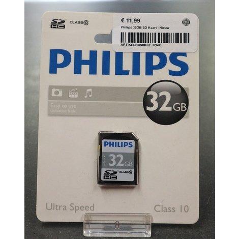 Philips 32GB SD Kaart | Nieuw