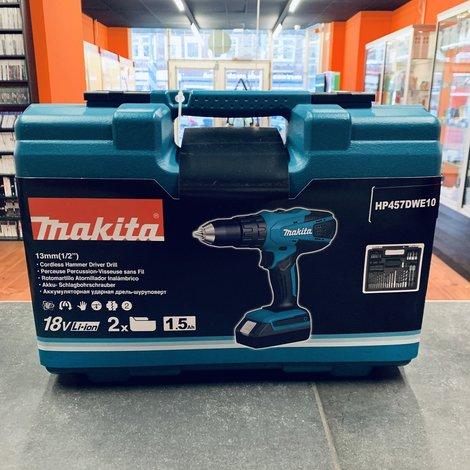 Makita HP457DWE10 18V Accuboormachine | Nieuw