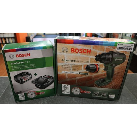 Bosch AdvancedImpact 18 met starter set 18V 2.5Ah