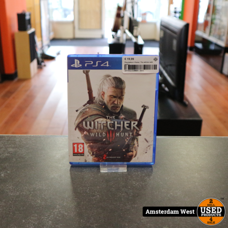 Playstation 4 Game: The witcher wild hunt 3
