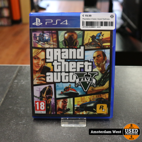 Playstation 4 Game: Grand Theft Auto 5