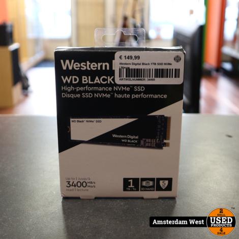 Western Digital Black 1TB SSD NVMe | Nieuw