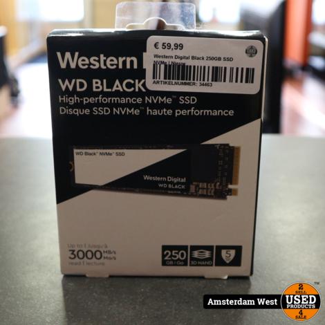 Western Digital Black 250GB SSD NVMe | Nieuw