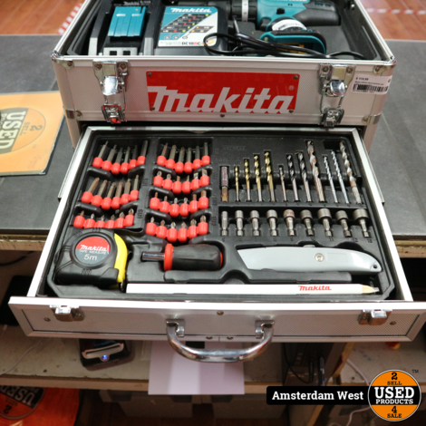 Makita DHP453 Boormachine met koffer & accessoires