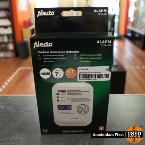 Alecto COA-26 Alarm Monoxide Melder | Nieuw