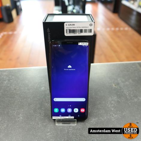 Samsung Galaxy S9 Plus 64GB Black In doos