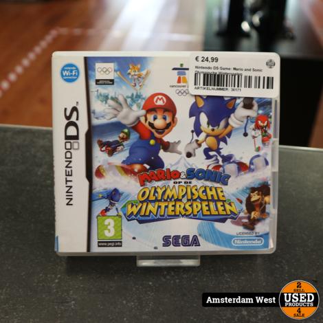 Nintendo DS Game: Mario and Sonic Olympische Winterspelen