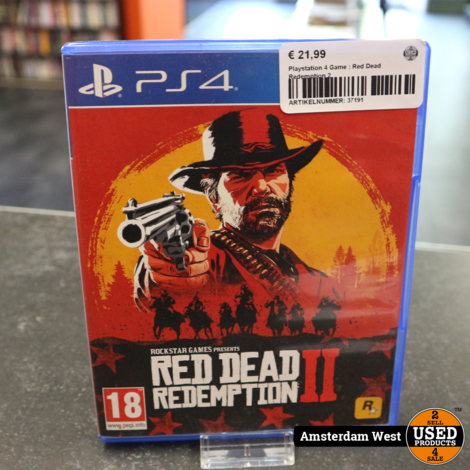Playstation 4 Game : Red Dead Redemption 2