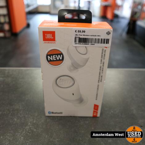 JBL Free Wireless earbuds Wit | Nieuw