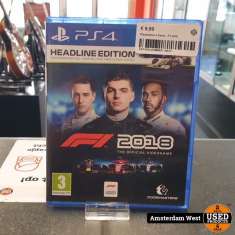 Playstation 4 Game : F1 2018