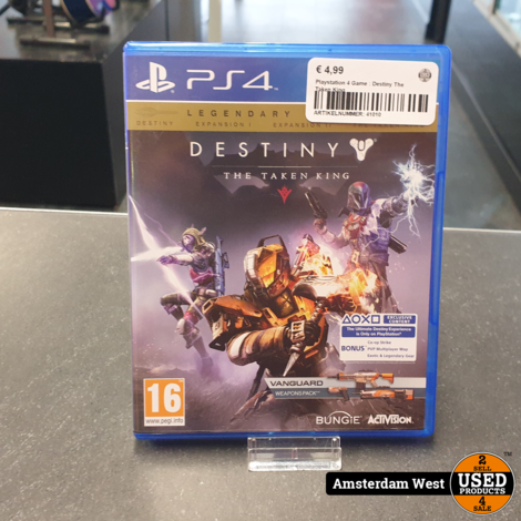 Playstation 4 Game : Destiny The Taken King