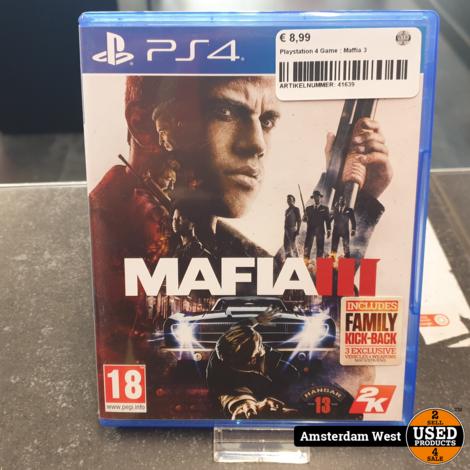 Playstation 4 Game : Maffia 3