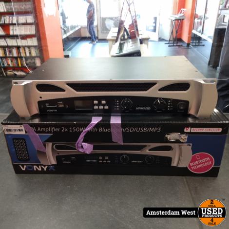 Vonyx VPA300 2x 150W Bluetooth versterker | Nieuwstaat