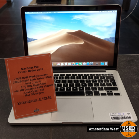 MacBook Pro 13 Inch Retina 2015