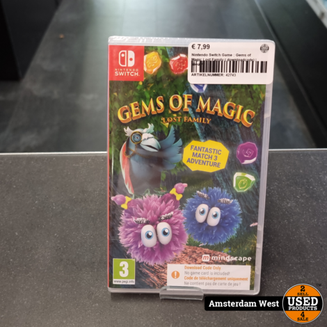 Nintendo Switch Game : Gems of Magic Lost Family ( downloadcode) | Nieuw
