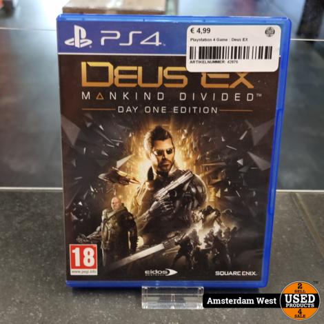 Playstation 4 Game : Deus EX
