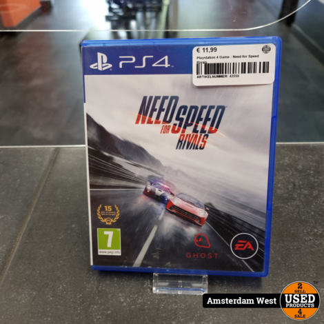 Playstation 4 Game : Need for Speed Rivals