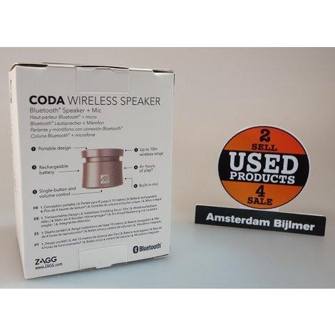 Zagg iFrogz Coda Wireless Speaker Gold | Nieuw