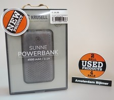 Krusell Sunne Powerbank Zwart Leather 4500 mAh / 2.1A | Nieuw