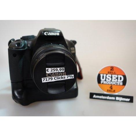 Canon EOS 550D incl 18-55mm lens incl battery grip