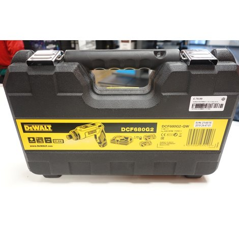 DeWalt DCF680G2 7.2V Li-Ion accu schroevendraaier set (2x 1.0Ah accu) in koffer   Nette staat