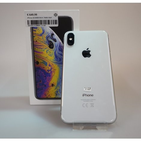 iPhone XS 64GB Silver | Nette staat