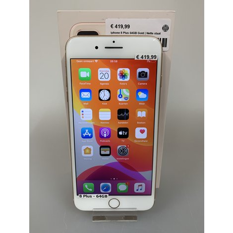 iPhone 8 Plus 64GB Gold | Nette staat