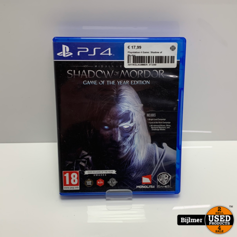 Playstation 4 Game: Shadow of Mordor