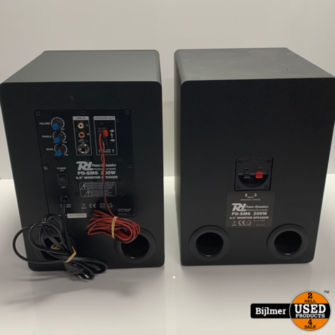 Power Dynamics PDMS6 Monitor speakers