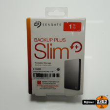 Seagate Backup Plus Slim 1TB - Space Grey