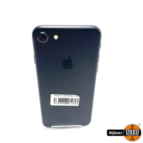 iPhone 7 32GB Black | Nette staat