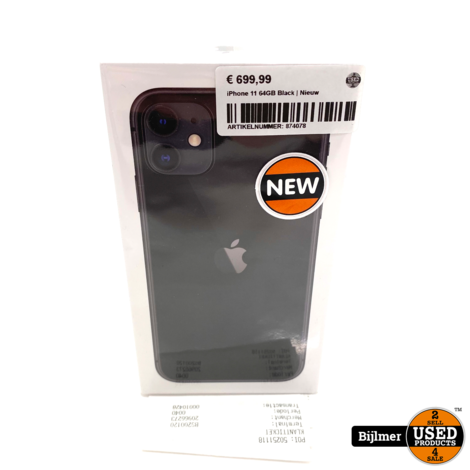 iPhone 11 64GB Black | Nieuw