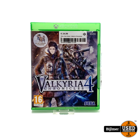 Xbox One Game: Valkyria Chronicles 4