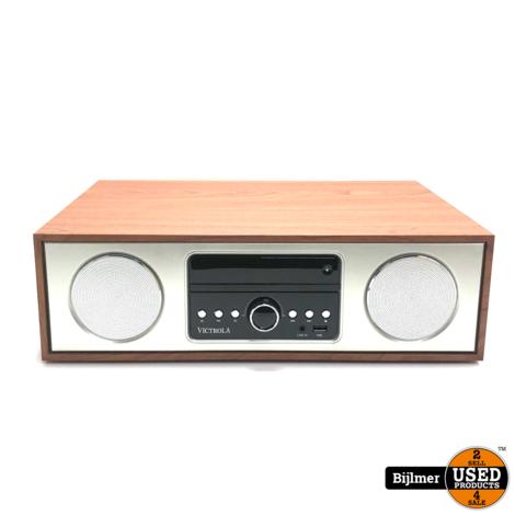 Victrola VS-120-MPL Bluetooth Microsystem CD speler, USB, Aux-in en FM Radio
