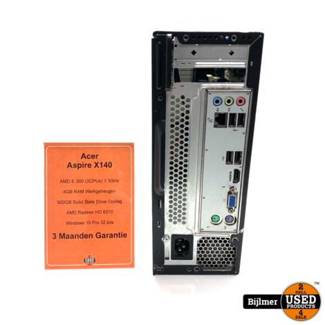 Acer Aspire X140 Desktop PC AMD E-300 1.3Ghz 4GB Ram 500GB HDD