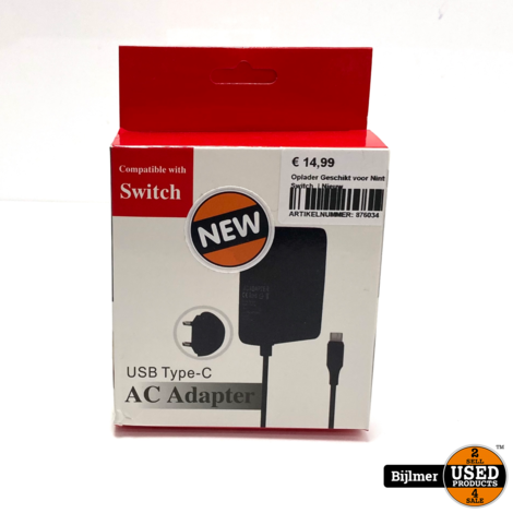 AC Adapter voor Nintendo Switch  | Nieuw