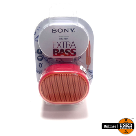 Sony SRSXB01R.CE7 Speaker Roos/Roze | Nieuw