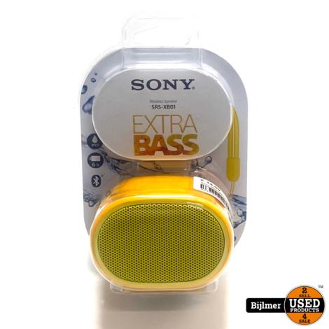 Sony SRSXB01R.CE7 Speaker Ornaje/Geel | Nieuw