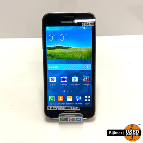 Samsung Galaxy S5 Mini 16GB Zwart | Nette staat