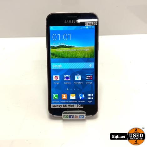 Samsung Galaxy S5 Mini 16GB Zwart   Nette staat