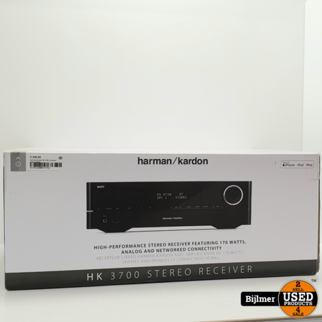 Harman Kardon HK 3700 versterker Zwart | Nieuw