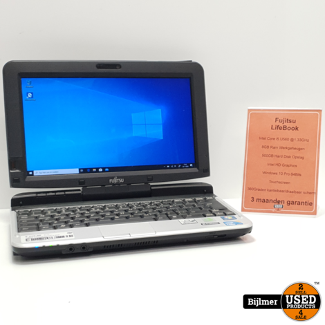 Fujitsu Lifebook T850 Laptop | i5@1.3GHz 8GB ram 500GB HDD Touchreen | Nette staat