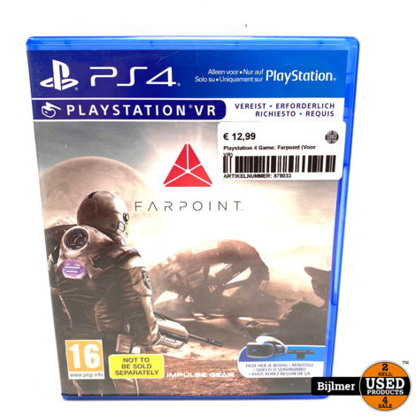 Playstation 4 Game: Farpoint (Voor VR)