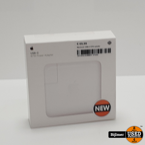 Macbook USB-C 87W oplader | Nieuw